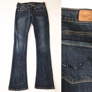 American Eagle AEO Skinny Kick Dark Wash Jeans 6L